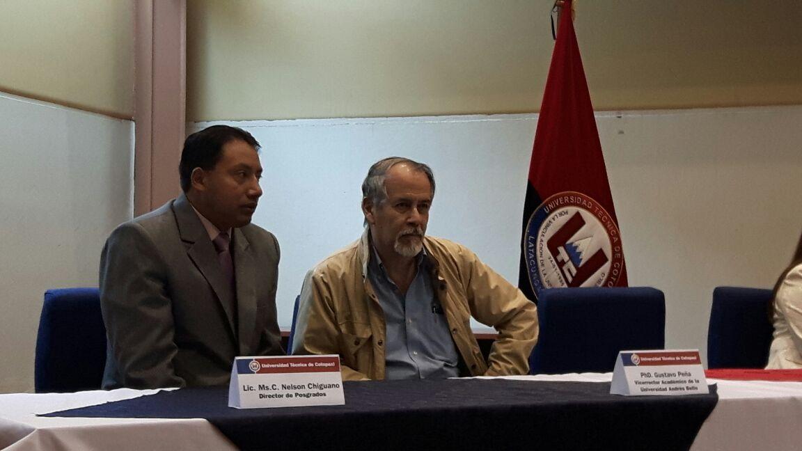Visita del vicerrector académico de la UCAB a la universidad del Cotopaxi Febrero Dr. Gustavo Peña