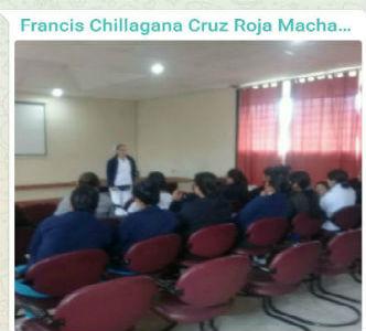 Estudiantes Auxiliares de Enfermería Corpcigec reciben inducción dictada por Lic. Anita Calle jefa del área de emergencia del Hospital Básico Machachi
